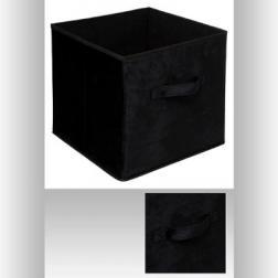 Boîte rgmt 31x31 velours noir