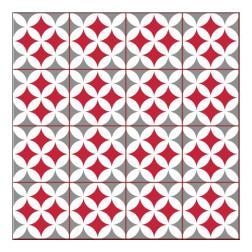 Carrelage adhésif 3D Odense rouge 30.5x25cm