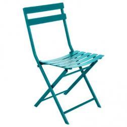 chaise de jardin pliante Greensboro Bleu Canard