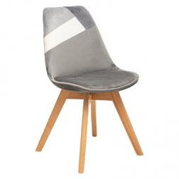 Chaise Diner Patchwork Baya Grise