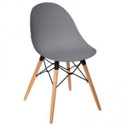 """Chaise """"Ezra"""" grise, pieds en hêtre"""