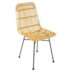 """Chaise """"Kubu"""", métal & rotin naturel"""
