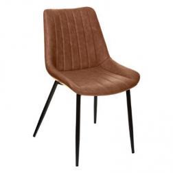 "Chaise ""Olwen"" cognac effet cuir"