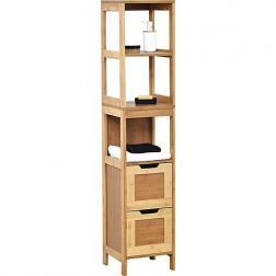 Colonne bambou et MDF 2 tiroirs/3 étagères - mahe