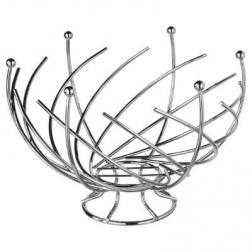 Corbeille en métal 30,5 Spirale - Argent