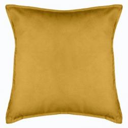 "Coussin ""Lilou"", jaune moutarde 55x55 cm"