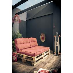 Dossier palette en coton - L 60 x l 22 x H 40 cm - Terracotta