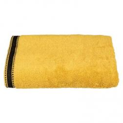"""Drap de douche """"Joia"""", coton 550 gr/m², jaune moutarde 70x130 cm"""