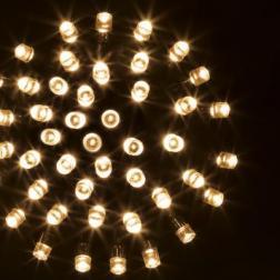 Guirlande lumineuse 24 m 240 LED Blanc chaud et 8 jeux de lumière