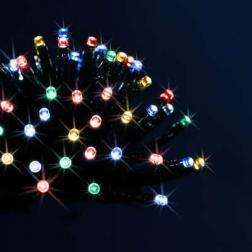Guirlande lumineuse d'extérieur programmable 96 LED Multicolore sur 7 mètres