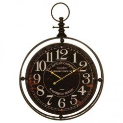 "Horloge ""Gousset"", métal D60 cm"
