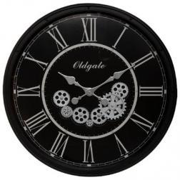 """Horloge """"Loann"""" noire D76 cm"""