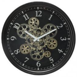 Horloge mécanique noire