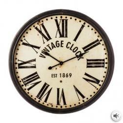 "Horloge ""Vintage"" marron, métal D113 cm"