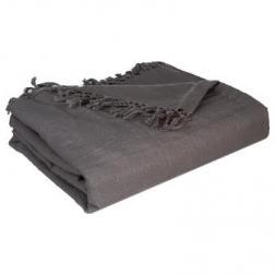 Jeté de lit gris 230x250cm