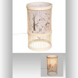 Lampe bambou forêt