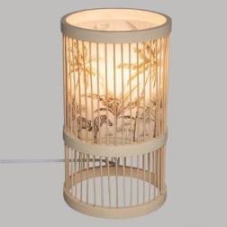 Lampe bambou safari