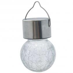 Lampe multicolore solaire inox à suspendre vendu à l'unité