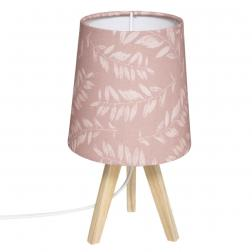 """Lampe trépied enfant """"Jungle"""", rose H24 cm"""