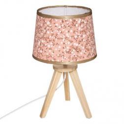 """Lampe trépied """"Liberty"""", rose H31 cm"""