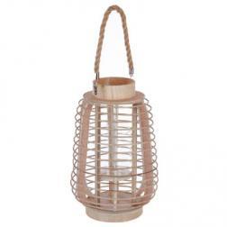 "Lanterne ""Rattan"", rotin H33 cm"