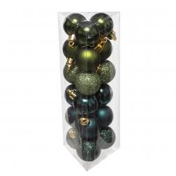 Lot de 18 Boules de Noël D 3 cm -Olive