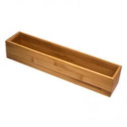 Organiseur de tiroir - 8 x 38 x 7 cm - Bambou