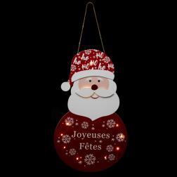 Pancarte Père Noël H60cm 13 Led