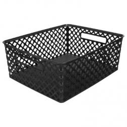 """Panier Multi-usages """"basket"""" 13cm Noir 11L"""