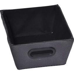 Panier tressé polyester noir 20.5x26cm