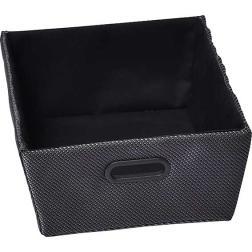 Panier tressé polyester noir H15XL32,5XP40CM