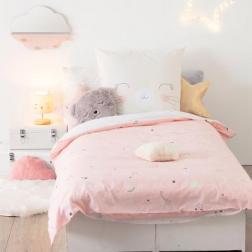 """Parure de lit enfant """"Chat"""", coton 140x200 cm"""
