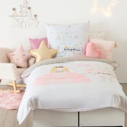 """Parure de lit enfant """"Princesse"""", coton 140x200 cm"""