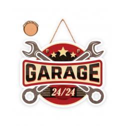 """Plaque """"garage"""" en bois 20.5X16CM"""