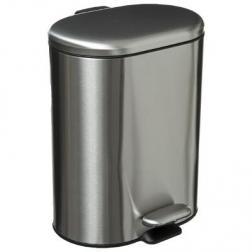 Poubelle 6 litres en Inox ouverture à pédale