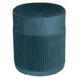 """Pouf """"Nofy"""", velours, bleu canard H38 cm"""