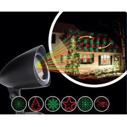 Projecteur Laser extérieur Laser de façade rouge et vert avec 6 formes