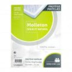 Protège matelas coton molletonné 160x200cm