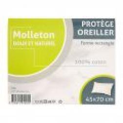 Protège oreiller taie rectangulaire coton 45x70cm