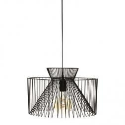 "Suspension ""Dario"", métal filaire, noir H23 cm"