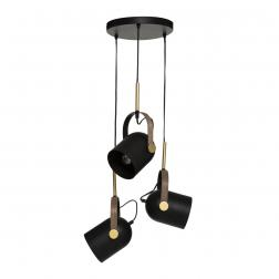 Suspension x3 Métal noir doré