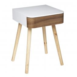 """Table à café """"Dona"""", blanc & bois H51 cm"""