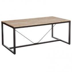 """Table à manger """"Edena"""", métal & bois d'acacia 180x90cm"""