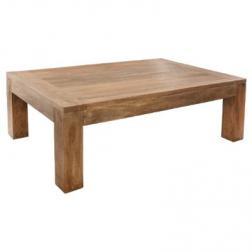 """Table basse """"Ajmal"""", bois de manguier 130x80xh.40cm"""