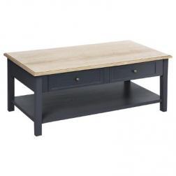 """Table basse """"Damian"""", gris et bois"""