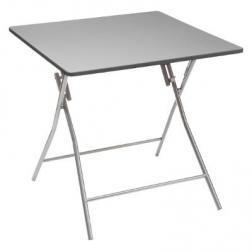 Table d'appoint Pliante 80x80cm Gris