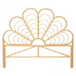 """Tête de lit """"Aoni"""", rotin 140x161 cm"""