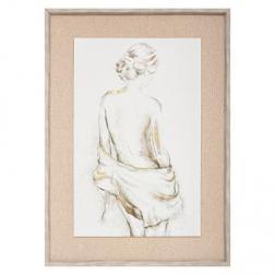 """Toile imprimée """"Portrait"""" encadrée 73x53 cm"""