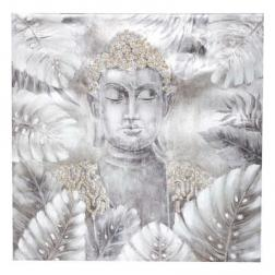 "Toile peinte ""Bouddha"" 78x78 cm"