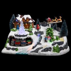 Village de Noël lumineux